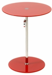 Radinka Side Table in Red Printed Glass [21199-FS-ERS]