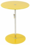 Radinka Side Table in Yellow Printed Glass [21196-FS-ERS]