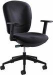 Rae™ 26'' W x 38'' H Adjustable Height Ergonomic Task Chair - Black [7205BL-FS-SAF]