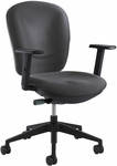 Rae™ 26'' W x 38'' H Adjustable Height Ergonomic Task Chair - Charcoal [7205CH-FS-SAF]