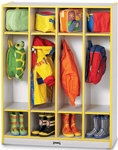 Rainbow Accents Coat Lockers - 4 Sections [0268JCWW180-JON]