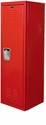 Rally Red Kids Standard Locker Unassembled- 15''W x 15''D x 48''H