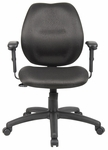 Ratchet Back Molded Foam Task Chair with Adjustable Arms - Black [B1014-BK-FS-BOSS]