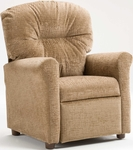 Kids Recliner with Rolled Arms - Raven Driftwood [401-RAVEN-DRIFTWOOD-FS-BZ]