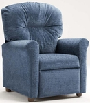 Kids Recliner with Rolled Arms - Raven Navy [401-RAVEN-NAVY-FS-BZ]