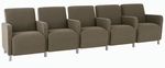 Ravenna Series 5 Seats with Center Arms [Q5403G8-FS-RO]