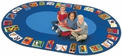 Reading By The Book ABC Circular Seating Rug