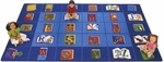 Reading By The Book ABC Rectangular Seating Rug [2600-FS-CAP]