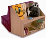 Reading Nook with Book Storage Shelving and Comfy Seat [WB8010-FS-WBR]
