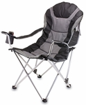 Reclining Camp Chair - Black and Gray [803-00-175-000-0-FS-PNT]