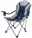 Reclining Camp Chair - Navy and Silver Gray [803-00-138-000-0-FS-PNT]