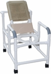 Reclining Shower Chair with Open Front Commode Seat and Casters - 24''W X 48''H [194-MJM]