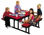 Customizable Children's Rectangle Lunchroom Table - 23''H [CNB-2448-BKS]
