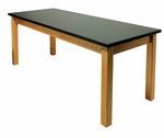 Rectangle Oak Frame Table [2448-OF-A2-IRO]
