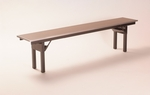 Rectangular Bench with Laminate Finish - 72''D [ML1272BENCH-MFC]
