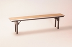 Rectangular Bench with Plywood Finish - 72''D [MP1272BENCH-MFC]