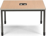 Mesa 47.25'' D x 47.25'' W Media Terminal and Workstation - Maple [66248-MPL-FS-MFO]