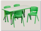 Rectangular Preschool Table and Chair Sets