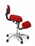 BetterPosture® Red Jazzy Chrome Deluxe Kneeling Chair [F1446RD-FS-JB]