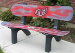 Red Snow Board Bench [SNBDBNCHRD-FS-ISK]