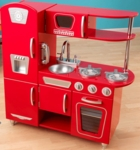 Kids Wooden Make-Believe Vintage Kitchen Play Set - Red [53173-FS-KK]