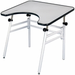Reflex Black and White Foldable Metal Table - 30''D x 40''W [REFLEX-FS-ALV]