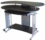 Regallo Expandable L Computer Desk - Black [50-100705-FS-COM]