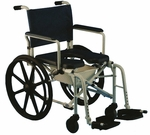 Aluminum Padded Rehab Shower Commode with Safety Strap [6795-FS-CARE]