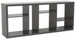 Reid Shelving Unit/Media Stand in Gray [09822GRY-FS-ERS]