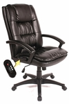 Relaxzen Executive chair with 5-Motor Massage - Black [60-6810-FS-COM]