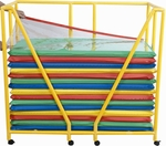 Rest Mat Storage Trolley with Casters - Yellow [CF905-074-FS-CHF]