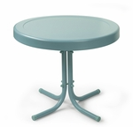 Retro Metal Side Table in Caribbean Blue [CO1011A-BL-FS-CRO]