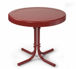 Retro Metal Side Table in Coral Red [CO1011A-RE-FS-CRO]