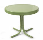Retro Metal Side Table in Oasis Green [CO1011A-GR-FS-CRO]