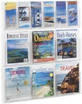 Reveal™ Six Magazine and Six Pamphlet Thermoformed Display - Clear [5606CL-FS-SAF]