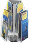 Reveal™ Rotating Tabletop Display Triangle Six Pamphlet - Clear [5697CL-FS-SAF]