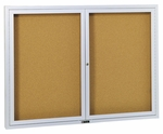 Revere Series Bulletin Board Cabinet with Nucork Panel [3520BN-CLA]