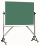 Reversible Free Standing Green Porcelain Chalkboard with Aluminum Frame - 48''H x 72''W [ARS4872G-AA]