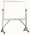 Reversible Free Standing Melamine White Marker Board with Aluminum Frame - 36''H x 48''W [WARC3648-AA]