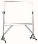 Reversible Free Standing Melamine White Marker Board with Aluminum Frame - 42''H x 60''W [WARC4260-AA]