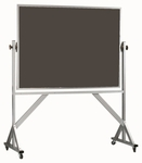 Reversible Free Standing Slate Chalkboard with Aluminum Frame 42''H x 60''W [ARS4260S-AA]