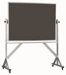 Reversible Free Standing Slate Chalkboard with Aluminum Frame - 42''H x 60''W [ARS4260S-AA]