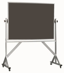 Reversible Free Standing Slate Chalkboard with Aluminum Frame - 48''H x 72''W [ARS4872S-AA]