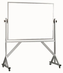 Reversible Free Standing White Porcelain Marker Board with Aluminum Frame - 36''H x 48''W [WARS3648-AA]