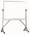 Reversible Free Standing White Porcelain Marker Board with Aluminum Frame - 42''H x 60''W [WARS4260-AA]