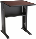 23.5'' W x 28'' D x 30'' H Reversible Top Fax and Printer Stand - Mahogany or Oak with Black Base [1934-FS-SAF]