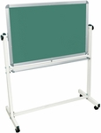 Reversible Magnetic Mobile White Board and Chalkboard [MB3624-FS-LUX]