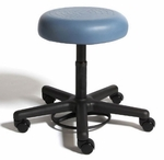 RhinoPlus Foot Activated Desk Height Stool with Urethane Upholstered Seat [RSOF1-FS-CRA]