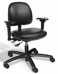 RhinoPlus Intensive Use Medium Back Desk Height Chair - 2 Way Control [RPMD2-FS-CRA]