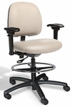 RhinoPlus Intensive Use Medium Back Mid-Height Drafting Chair - 2 Way Control [RPMM2-FS-CRA]